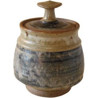 Mid-Century Studio Pottery Lidded Pot