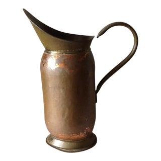 Antique Copper Belgian Pitcher