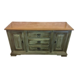 Rustic Olive Green Sideboard