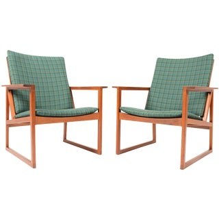 Børge Mogensen Teak Lounge Chairs - A Pair
