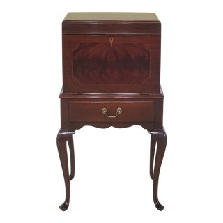 Henkel Harris Queen Anne Mahogany Wine Cellarette Cabinet