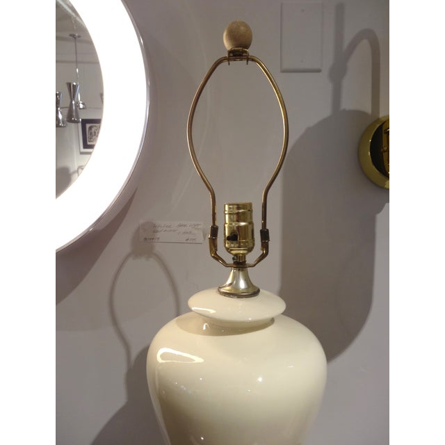 White Ceramic Lamps - A Pair - Image 5 of 5