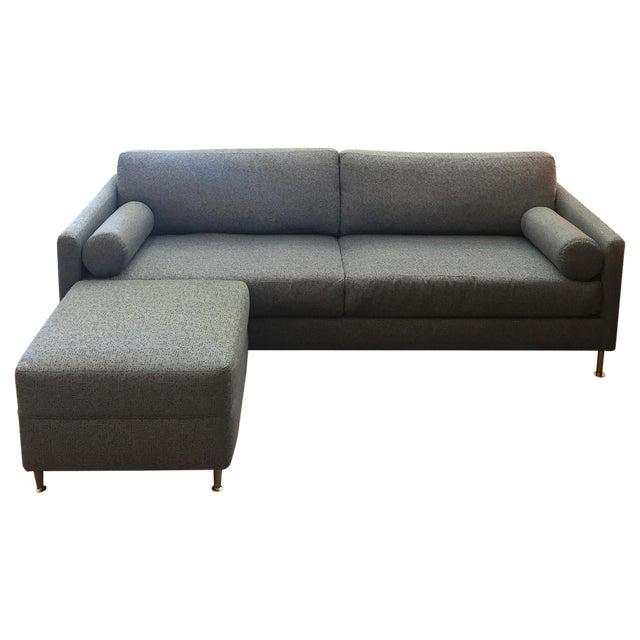 Image of Custom Mid-Century Modern Sofa With Ottoman