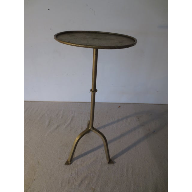 Vintage 1970s Gilt Iron Side Table - Image 2 of 6