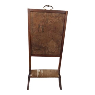 Antique Chinese Tapestry Fire Screen