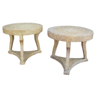 Pair of Round Gueridon Side Tables