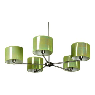 Iridescent Green Shades Chandelier