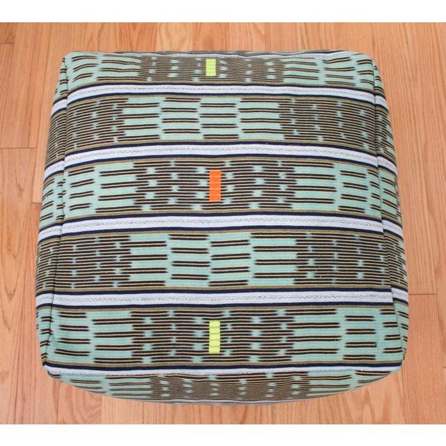 Vintage African Baule Cloth Pouf - Image 6 of 8