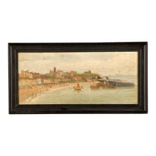 A lovely watercolour of Broadstairs, England c.1890 with the original frame.