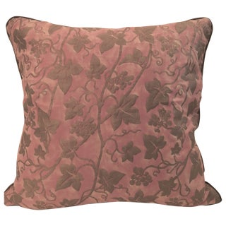 "Fortuny ""Edera"" Pink/Silver/Gold Pompeian Pillow"