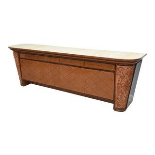 Osvaldo Borsani Italian Modern Mixedwood and Parchment Sideboard/Buffet, 1940s