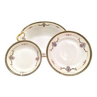 Art Nouveau Japanese Porcelain Dinnerware, 1920s - Set of 25