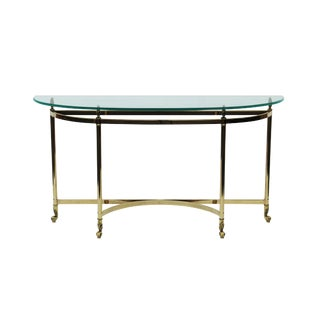 Brass LaBarge Console Table