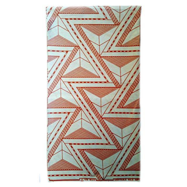 Cream Orange African Print Fabric - 4 Yards - Image 2 of 3