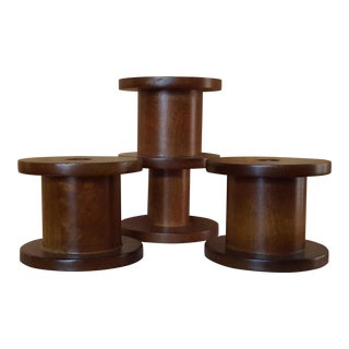 West Elm Wooden Spools - Set of 3