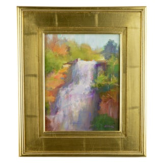 "Original Oil Painting on Board, ""Waterfall"""