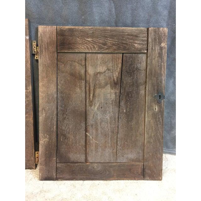 Vintage Rustic Wood Cabinet Doors - A Pair - Image 10 of 11 - Vintage Rustic Wood Cabinet Doors - A Pair Chairish