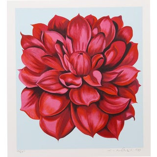 """Red Dahlia From the Stamps Series"" Print"