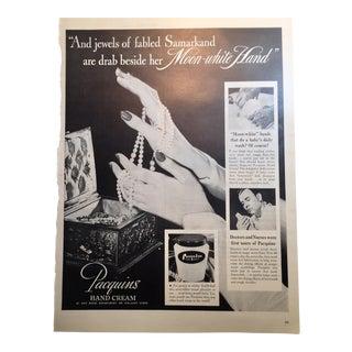 1946 Vintage Paquin's Hand Cream Ad