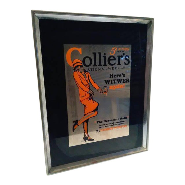 Vintage Colliers National Weekly Advertising Glass - Image 1 of 4