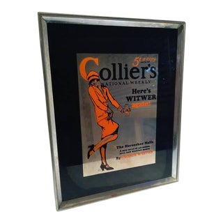 Vintage Colliers National Weekly Advertising Glass