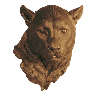 Faux Mountain Lion Head by Wall Charmers