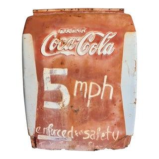 Vintage 5 MPH Safety Sign