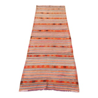 Vintage Turkish Kilim Runner - 2′10″ × 8′11″