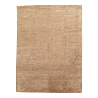 Beige Contemporary Hand Woven Rug - 8' X 10'