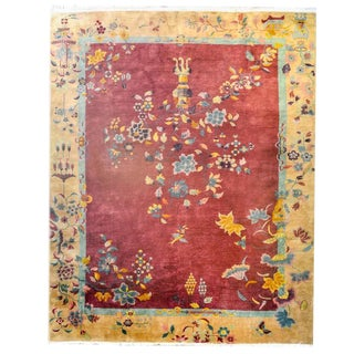 Early 20th Century Chinese Art Deco Rug - 8′7″ × 11′5″