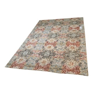 Crate and Barrel Alvarez Garden Hand Tufted Wool Blend Rug - 6' x 9'