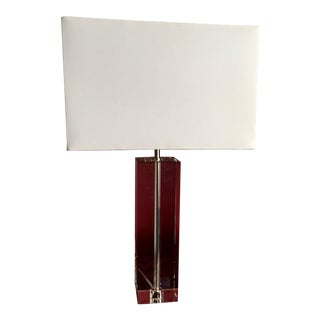 Room & Board Crystal Block Table Lamp by Robert Abbey