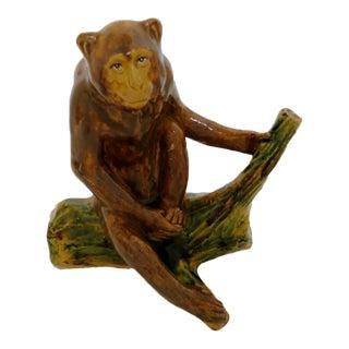 Ceramic Monkey Figurine