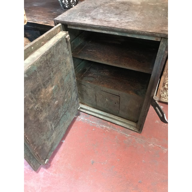 Antique Iron Safe From India - Image 5 of 5