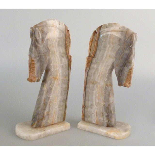 Handmade Onyx Horse Bookends - A Pair - Image 7 of 9