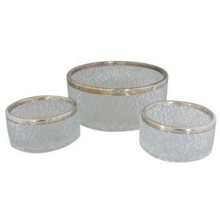 Mid-Century Ice Pattern Salad Bowls - Set of 3