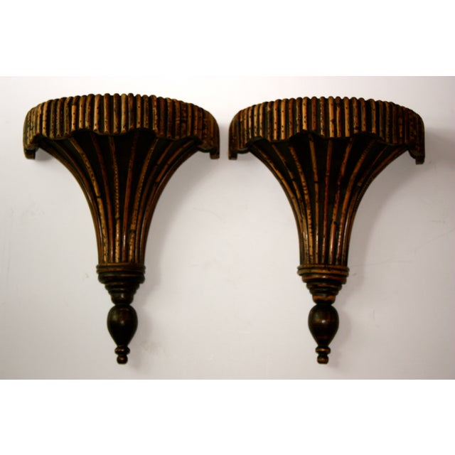 Bamboo Sconces - A Pair - Image 2 of 4