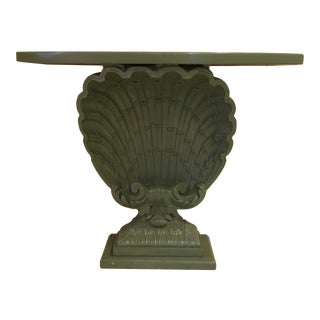 Grosfeld House Hollywood Regency Shell Console Table