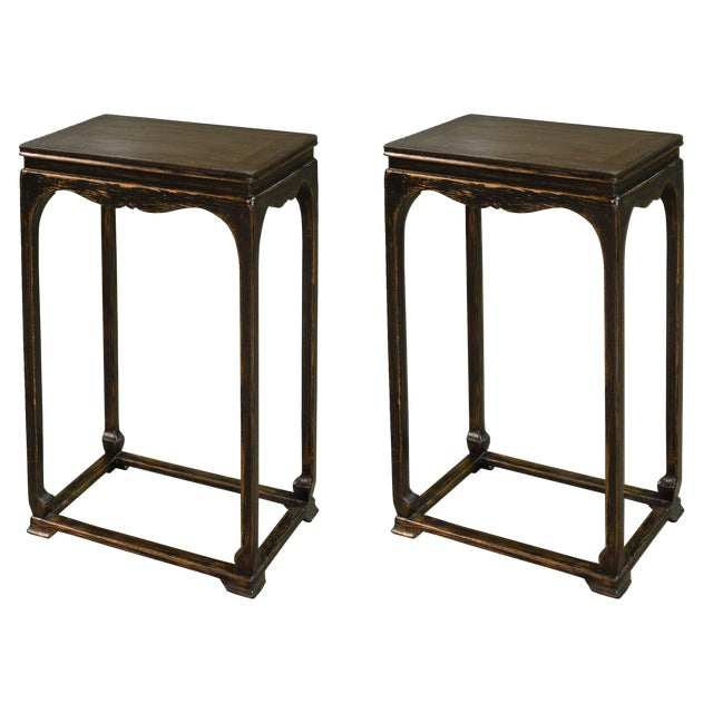 Sarreid Ltd Eastern Harbor Tea Table - a Pair - Image 1 of 5
