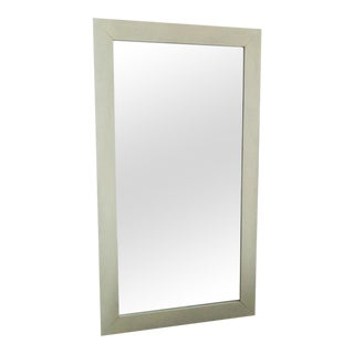 White Wooden Pottery Barn Mirror
