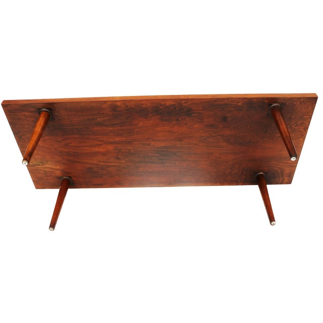 American of Martinsville Walnut Coffee Table - Image 4 of 6