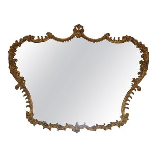 Italian Baroque Carved Giltwood Mirror