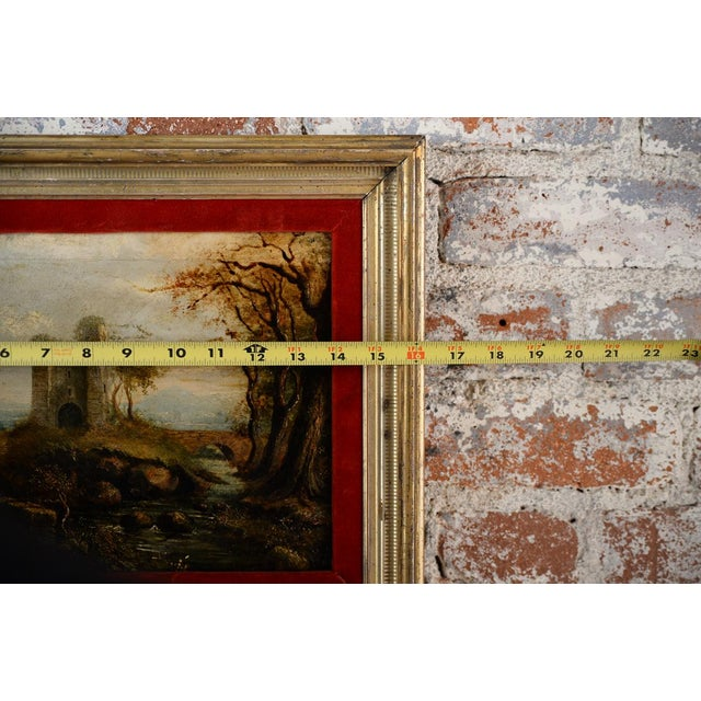 18th-C. Castle Ruins Oil Painting - Image 8 of 9