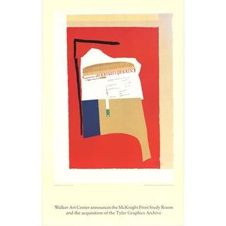"1984 Robert Motherwell ""America - La France Variations I"" Poster"