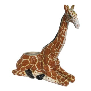 Italian Terra-Cotta Giraffe Planter