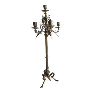 Vintage Brass Five Light Candelabra