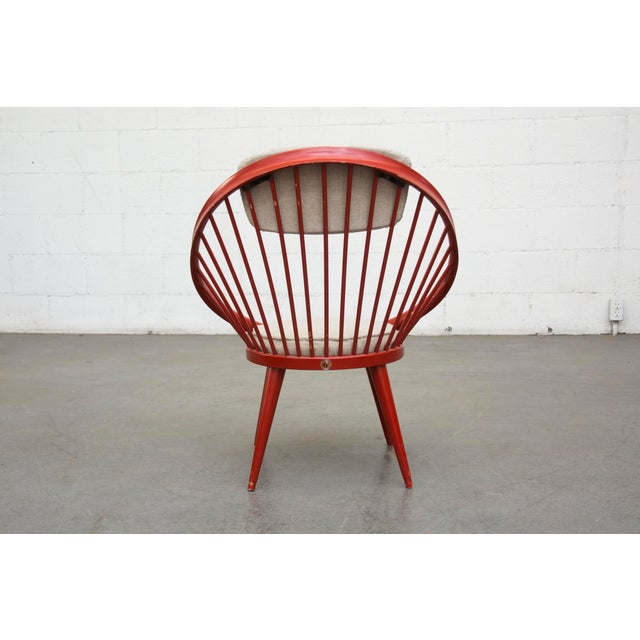 Swedish Red Hoop Lounge Chair - Image 6 of 11
