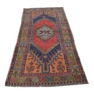 Turkish Oushak Floor Carpet - 3′8″ × 7′1″