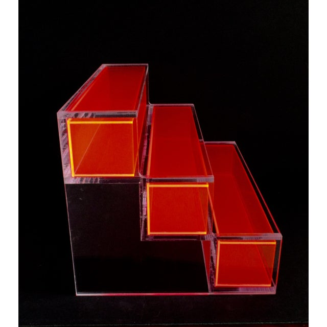 Pink Block Lucite Display Shelving - Image 8 of 10