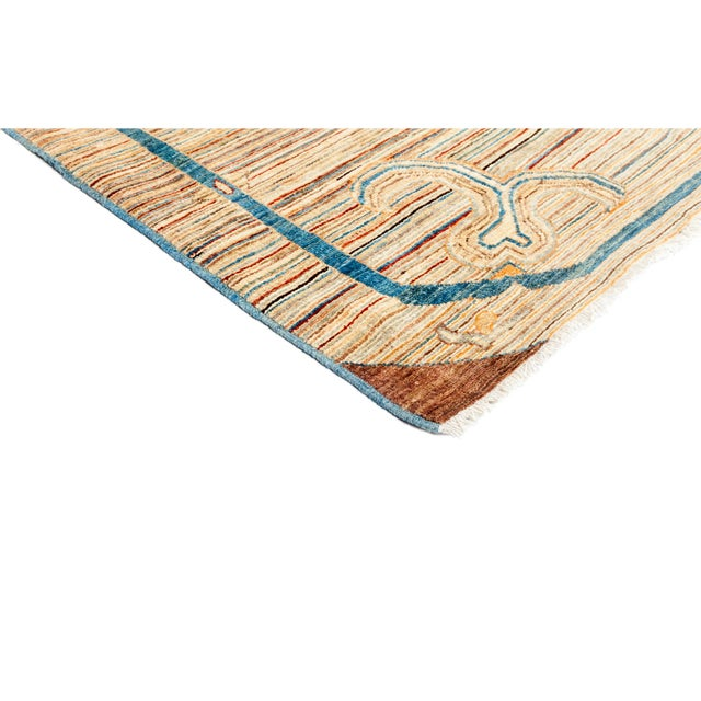 """Suzani Hand Knotted Area Rug - 5'5"""" X 6'6"""" - Image 2 of 3"""